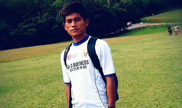 Peter Biaksangzuala, a football player who died after an unsuccessful flip