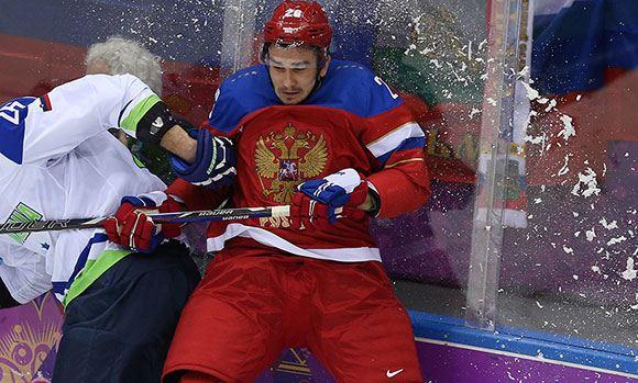 Хоккеист Вячеслав Войнов в составе российской сборной