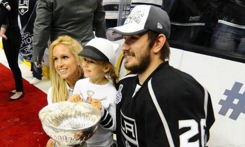 Вячеслава Войнова с гражданской супругой Мартой и дочерью