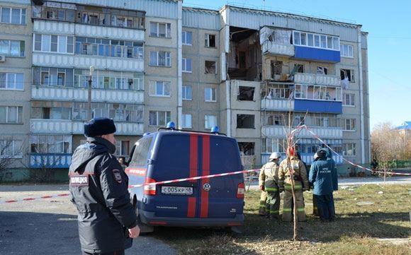 Место взрыва бытового дома в жилом доме, Липецкая область