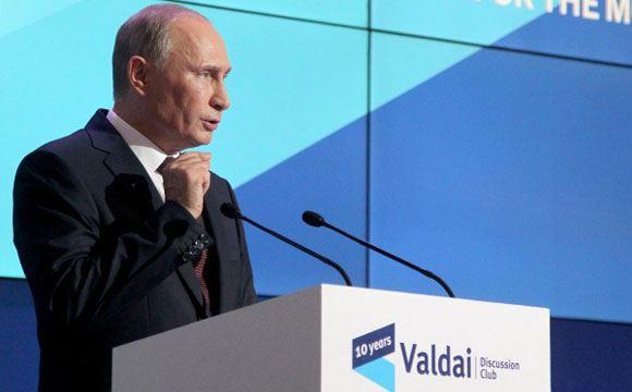 Владимир Путин выступает на «Валдае»