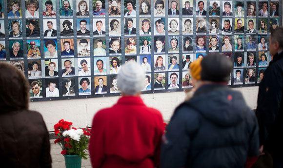 Фотографии погибших от рук террористов и в результате штурма