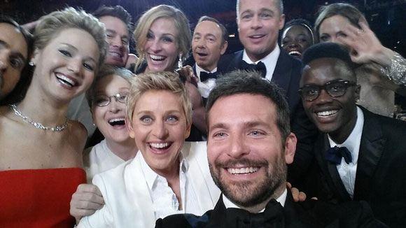 Селфи на церемонии вручения наград Американской киноакадемии