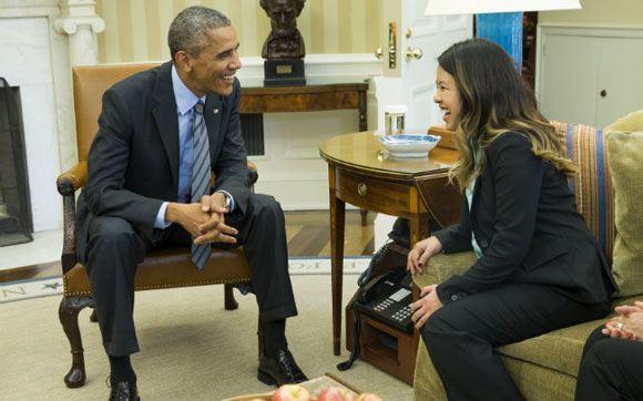 Барак Обама и медсестра Нина Фэм