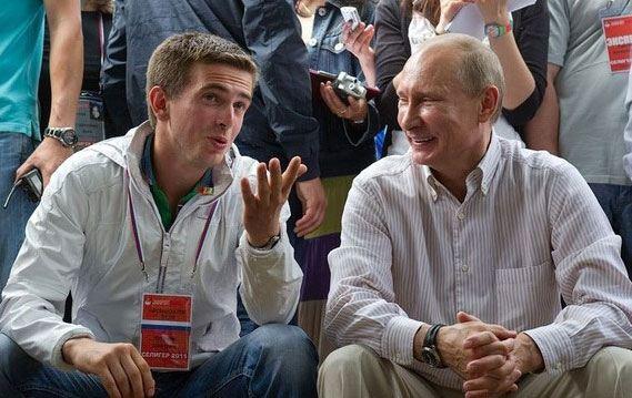 Избитый чоповцами Дмитрий Чугункин и Владимир Путин