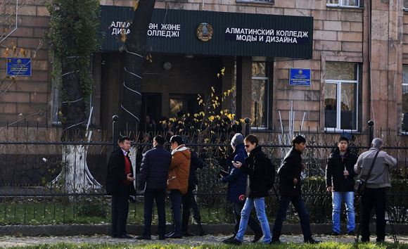 Колледж моды и дизайна в Алма-Ате, в котором взорвалась граната