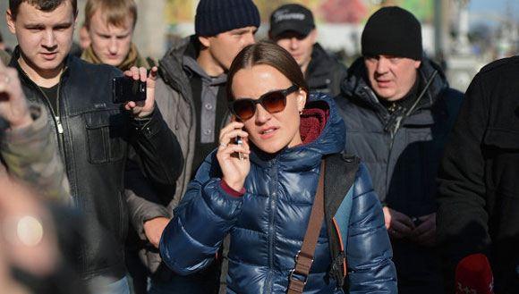 Журналистка LifeNews Евгения Змановская была избита коллегами в Киеве