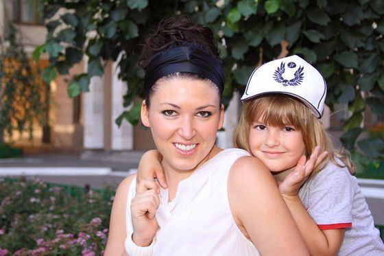 Irina Dubtsova with her son Artem