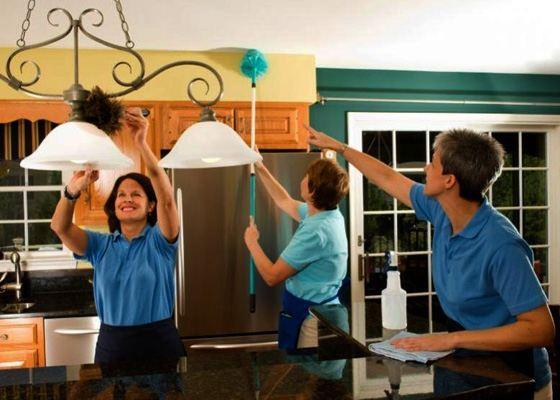 Иногда требуется помощь и в уборке дома