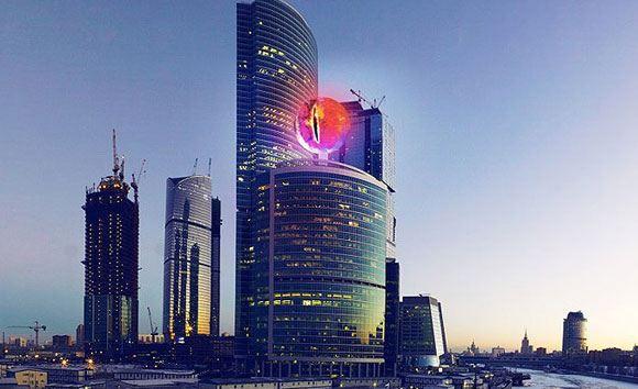 Примерно так выглядело бы «Око Саурона» над Москвой