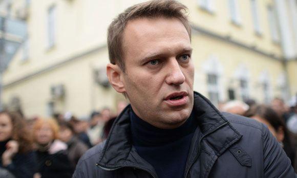 Алексей Навальный на одной из уличных акций