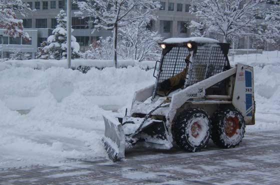 В городах уборкой снега занимается администрация