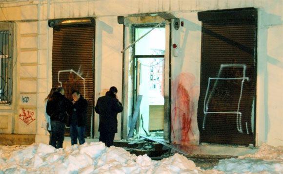 Место теракта у Координационного центра помощи бойцам АТО в Одессе