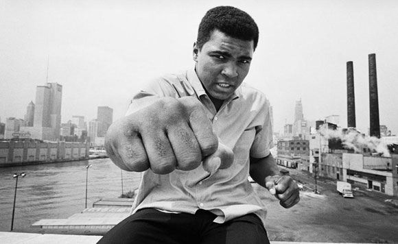 Mohammed Ali was discharged from the hospital where he treated pneumonia.