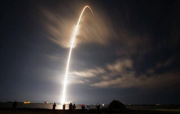 Приземление первой ступени ракеты Falcon 9