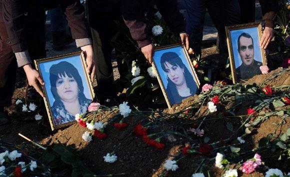 Похороны убитой семьи Аветисян
