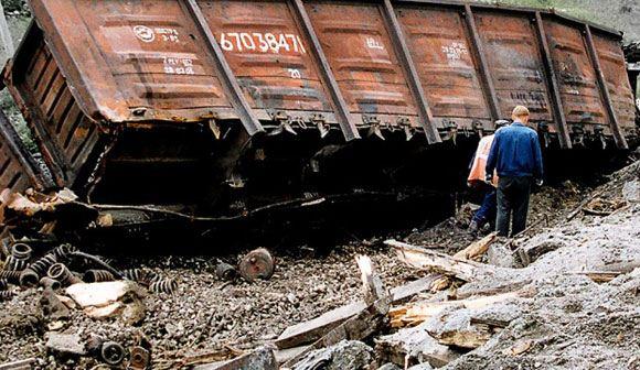 В Запорожской области Украины подорвали железнодорожный состав