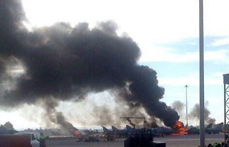 Крушение греческого F-16 в Испании, фото с места событий
