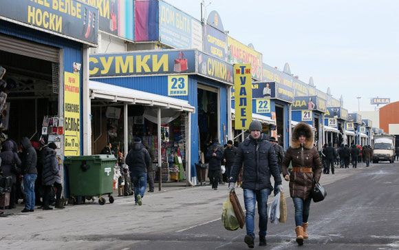 Рынок «Садовод», где было найдено мясо животных из Красной книги