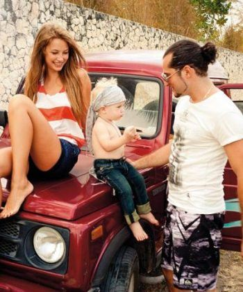 In the photo: Irakli with his wife and son