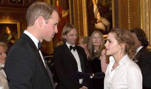 Эмма Уотсон и брат принца Гарри – принц Уильям