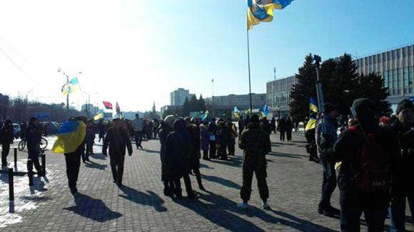 На шествии в Харькове произошел взрыв