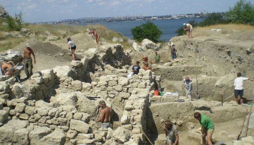 Archaeological excavations in the Crimea