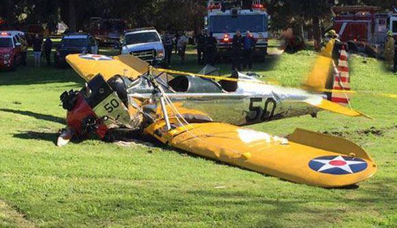 Самолет, на котором совершил вынужденную посадку Харрисон Форд