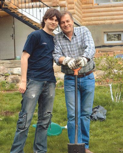 Андрей Ливанов с отцом Игорем Ливановым