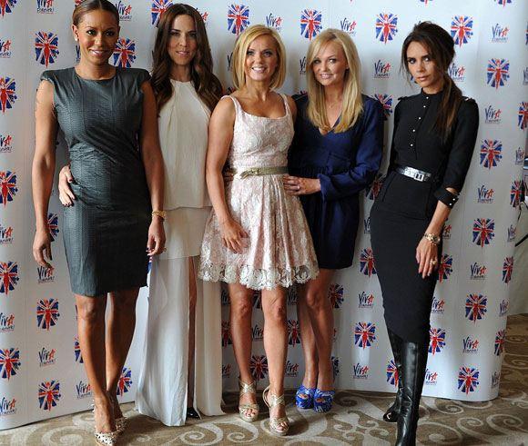 Участницы поп-группы Spice Girls