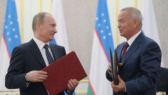 Владимир Путин поздравил Ислама Каримова с переизбранием на президентский пост