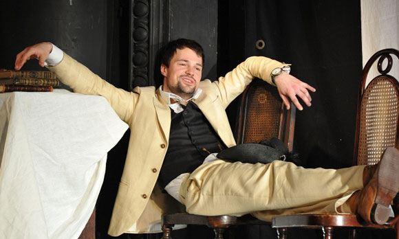Danila Kozlovsky as Lopakhin in the play The Cherry Orchard by Lev Dodin