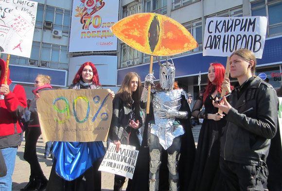 Участники «Монстрации» в Новосибирске
