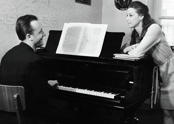 Maya Plisetskaya and her husband Rodion Shchedrin