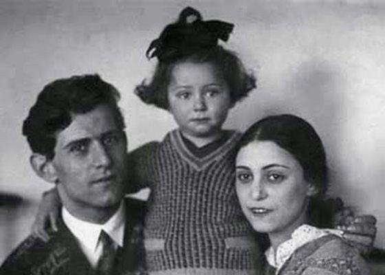 Maya Plisetskaya with mom and dad