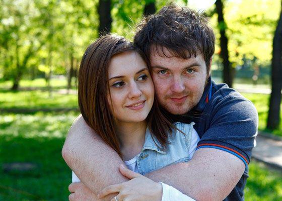 In the photo: Anya Rudneva and Pasha Serdyuk