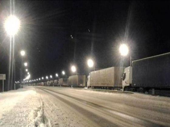 Пробки на трассе «Россия»
