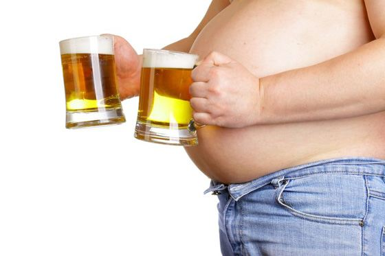 It is necessary to give up alcohol to lose flesh