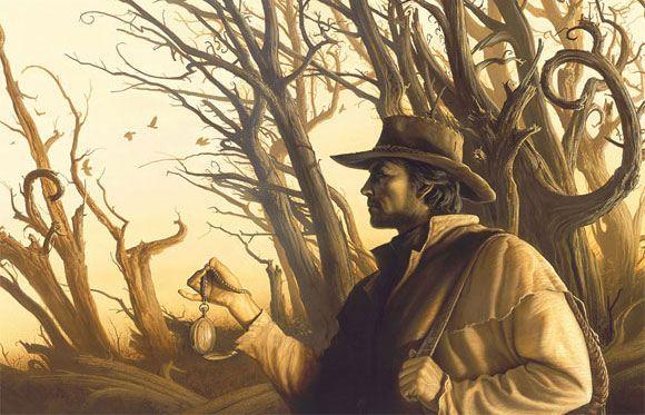 Иллюстрация Майкла Уэлана к одной из книг цикла «Темная башня»