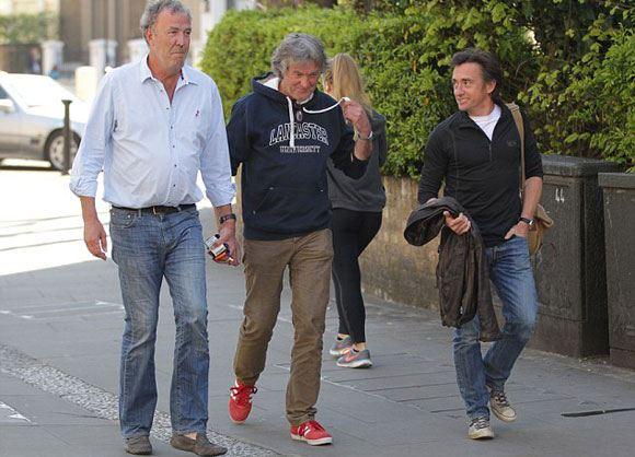 Бывшие ведущие Top Gear Кларксон, Хаммонд и Мэй