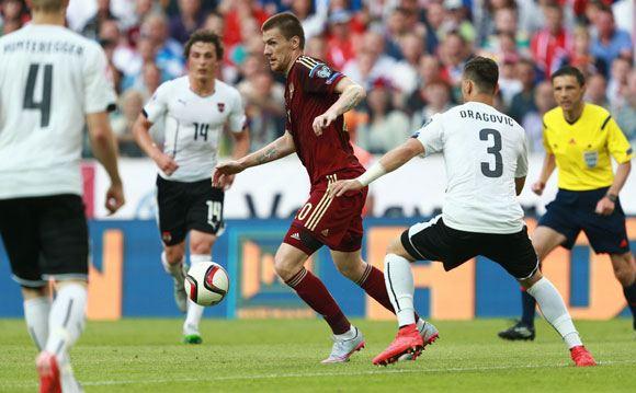 Российская сборная уступила Австрии в рамках отборочного тура ЧЕ-2016
