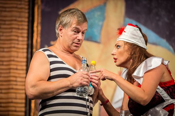 Now Igor Livanov often plays in the theater