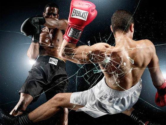 Одни из популярных ударных спортивных единоборств являются бокс и кикбоксинг