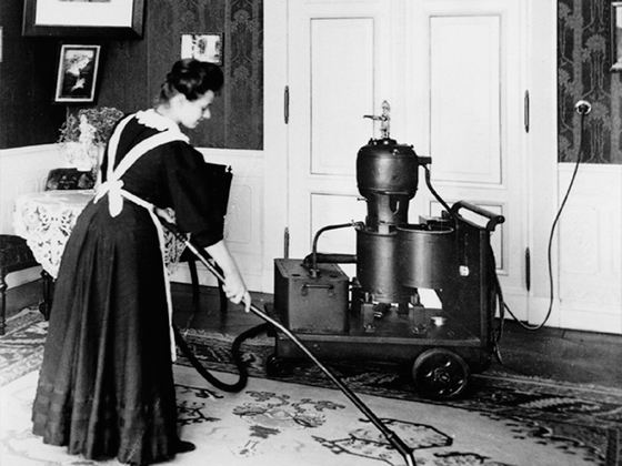 Первый пылесос был сконструирован американцем Ивом Маккафи в 1869 году