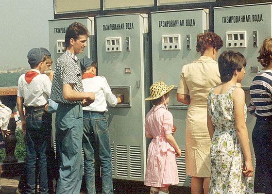 Автоматы с газированной водой были очень популярны в Советском Союзе