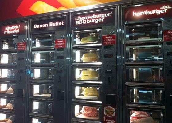 В Голландии можно приобрести гамбургер в автомате