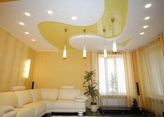 В последнее время стали очень популярными французские натяжные потолки