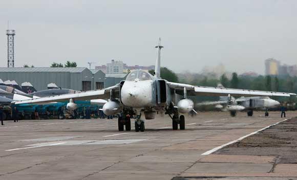 В Хабаровском крае на взлете разбился фронтовой бомбардировщик Су-24М