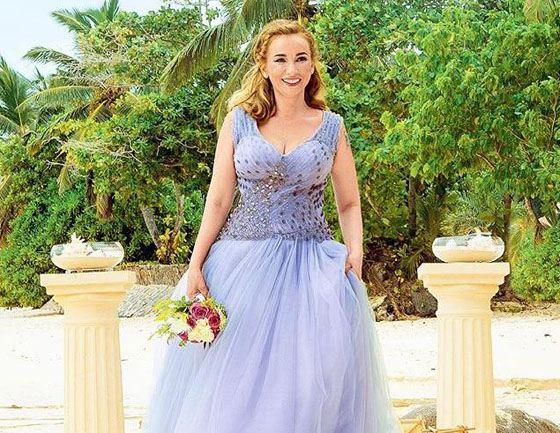 Анфиса Чехова, свадебное платье