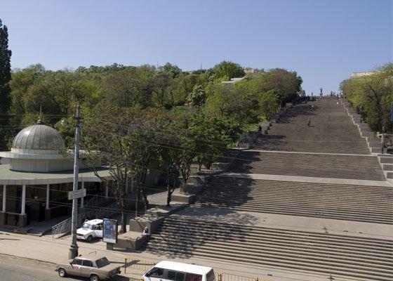Одна из достопримечательностей Одессы - Потёмкинская лестница
